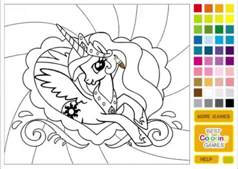 my little pony colouring games kids coloring europe