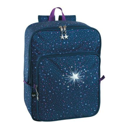 Tas Vintage Backpack Gravity Coral Blue pluma print animal lagarto beige pilot and starry nights