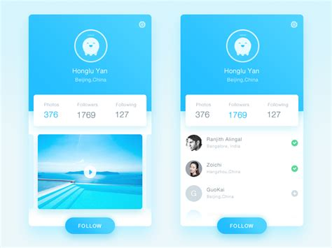 user profile layout in android 50 user profile page design inspiration muzli design