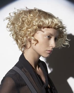 short permed hairstyles with bangs curly hair styling tips