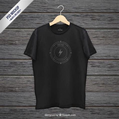 Kaos 3d The Walking Dead black t shirt mockup photoshop mock ups
