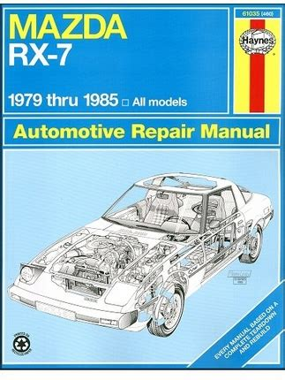 how to download repair manuals 1983 mazda rx 7 electronic toll collection mazda rx 7 repair workshop manual 1979 1985 haynes 61035