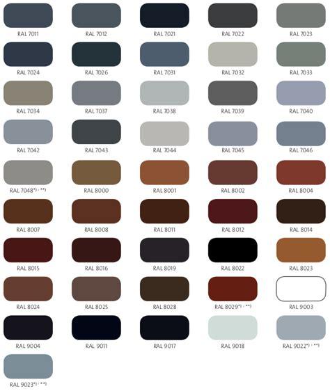ral color chart aluminum glass cabinet doors