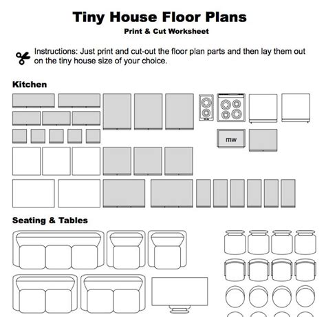home design worksheet print cut floor plan worksheet small houses pinterest