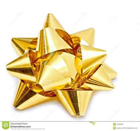 gold christmas bow royalty free stock image image 21929036