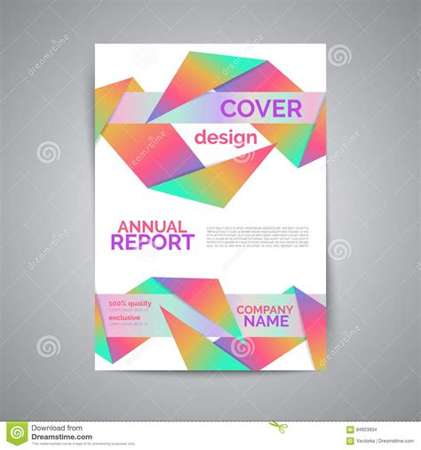 annual report template modern flyer with geometric shapes