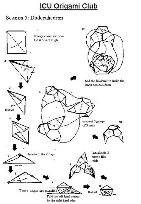 Origami Diagrams Compound Of Dodecahedron And Great - imperial college origami society
