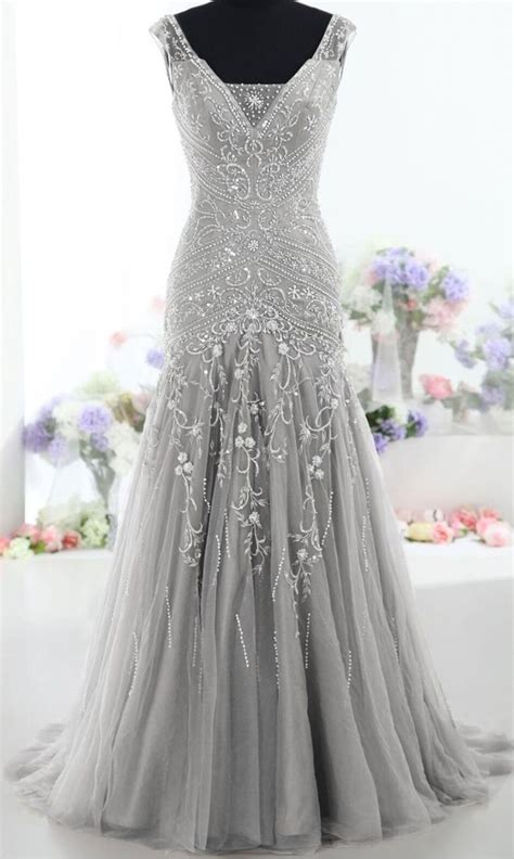 prom dresses on pinterest lace gowns prom and sequin dress silver long back up lace v neck beading prom dresses