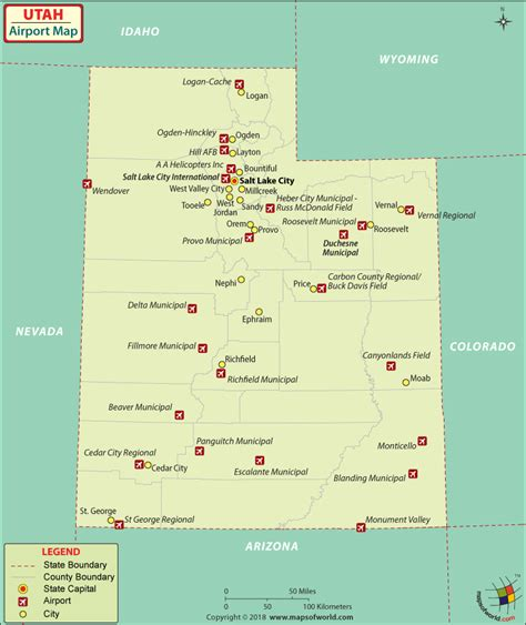 map of usa airports airports in utah utah airports map