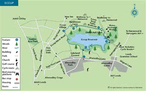 Map My Walk Route by Eccup Reservoir Circular Walk Map Walking Britain