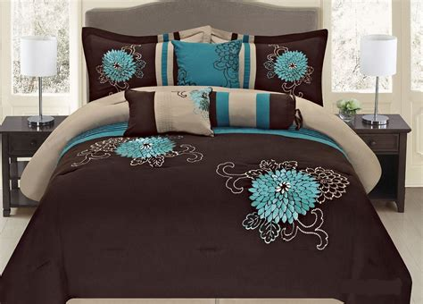 turquoise brown comforter sets cheap teal bedding sets with more ease bedding with style