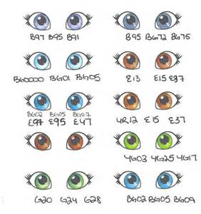list of eye colors s mbellishments more copic journal pages