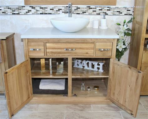 Wash Bowl Vanity Units by Bathroom Vanity Unit Oak Cabinet Wash Stand White Quartz