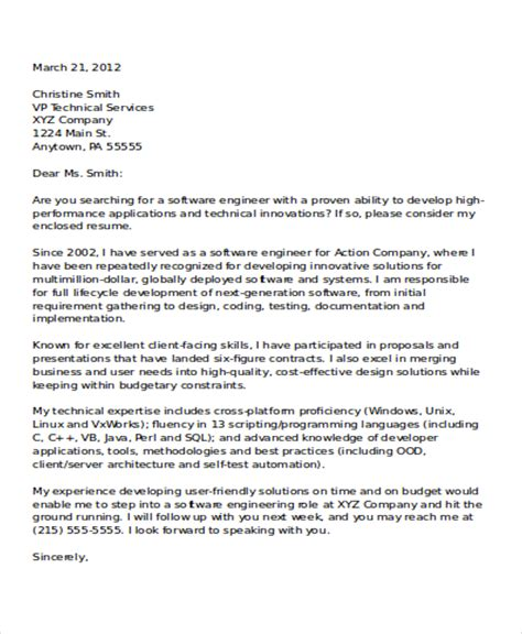 cover letter for application developer 8 software developer cover letter templates free sle