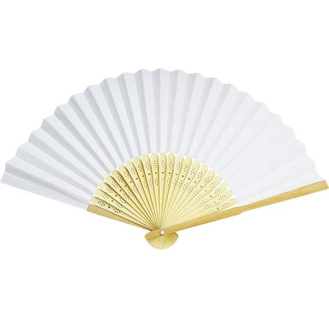 Paper Folding Fans - cheap white paper folding fans for weddings for sale