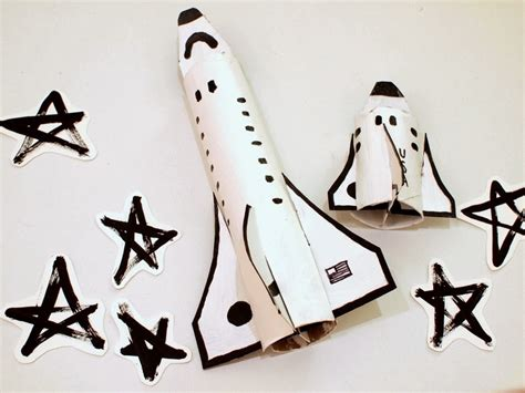 How To Make Paper Space Shuttle - cardboard space shuttle craft template included pink