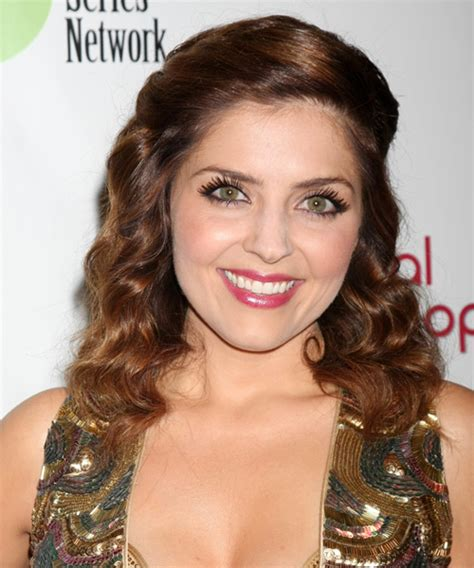 jen lilley natural hair color jen lilley long wavy formal hairstyle medium brunette