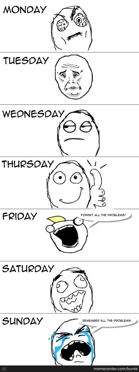 Meme Of The Week - days of the week by burek meme center