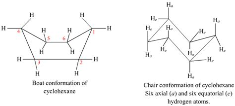 Cyclohexane Chair Conformation by Explain Boat And Chair Isomers Of Cyclohexane In Detail