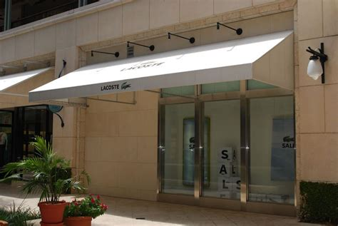 retail awnings retail centers commercial shade solutions miami awning
