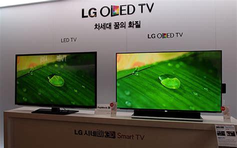 Tv Led Vs Lcd erste vergleich lg 55 zoll oled tv vs lcd led tv