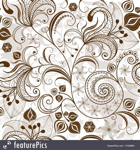 brown flower pattern repeating white brown floral pattern