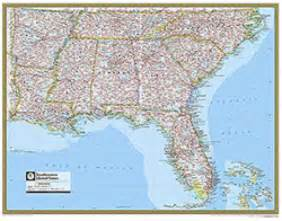 map of south eastern united states southeastern united states atlas wall map maps