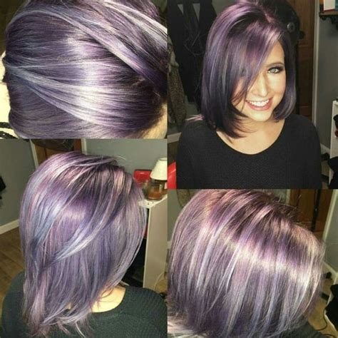 three dimension hair cuts dimensional lavender want some new color pinterest