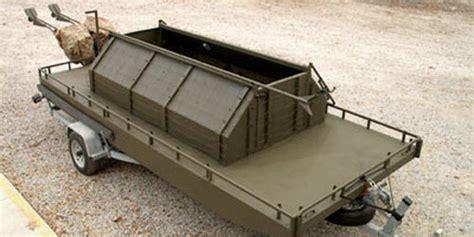 duck boat enclosed low profile floating duck blinds go devil manufacturers