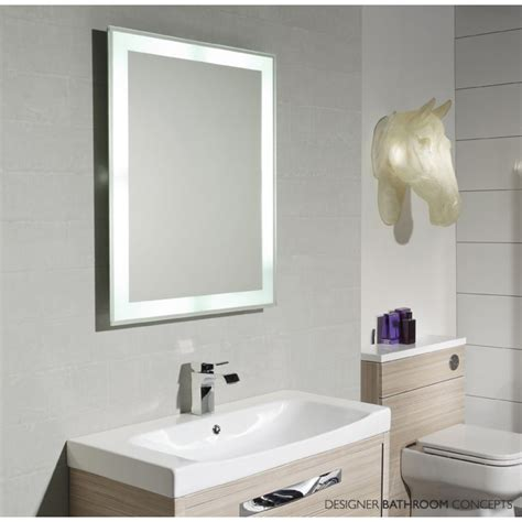 Bathroom Mirrors Illuminated Roper Status Designer Illuminated Bathroom Mirror 600mm Mlb280