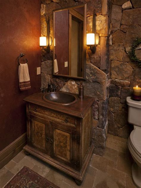 rustic bathroom colors i like the colors tumbled stone marbled walls powder