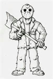 Drawings Jason Voorhees Part 7 Sketch Coloring Page sketch template