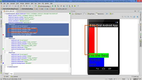 lesson how to build android app with linearlayout plus layout orientation size and weight - Android Layout Weight