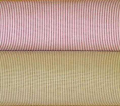 Upholstered Cornice Boards P Kaufmann Baldwin Cotton Woven Stripe Ticking Fabrics
