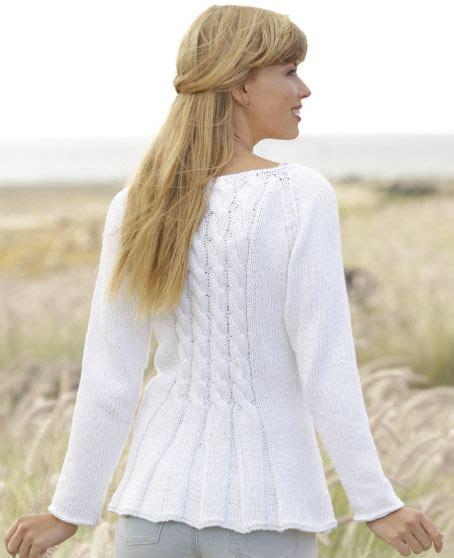 pattern knitting cardigan romantic twist free cable and peplum cardigan knit pattern