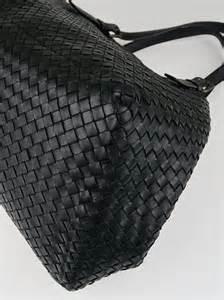 Bottega Veneta Woven Panel Purse by Bottega Veneta Black Intrecciato Woven Nappa Leather Large