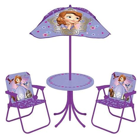 Sofia The Table And Chair Set by Disney Sofia The Patio Set Play Equipment For Children