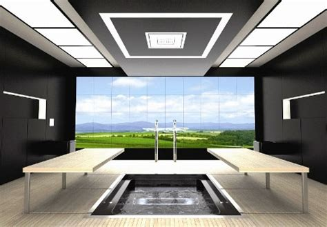 Hi Tech Commercial Interiors by Futuristic Bathroom Layout High Tech Space Saving Design