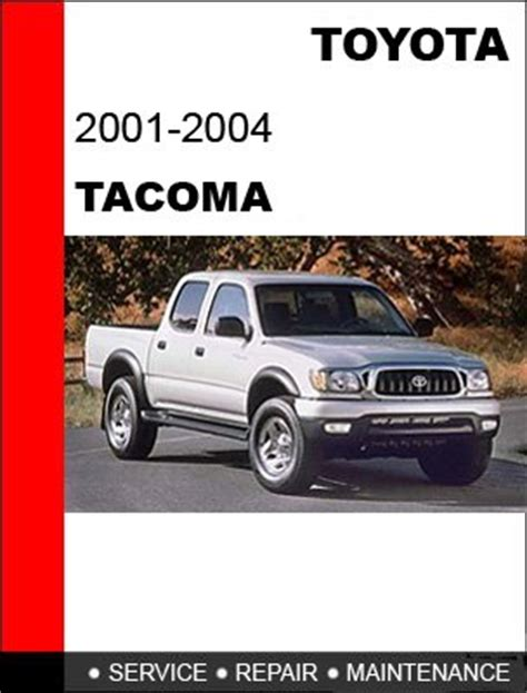 2001 2002 2003 2004 toyota tacoma service repair manual cd