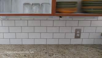 white subway tile backsplash the contractor chronicles