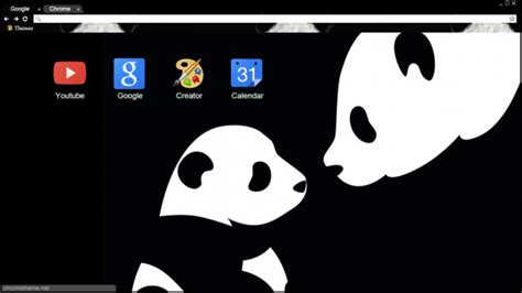 theme chrome panda panda chrome theme themebeta