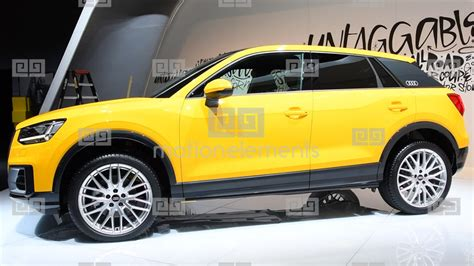 audi q2 compact crossover luxury suv stock footage