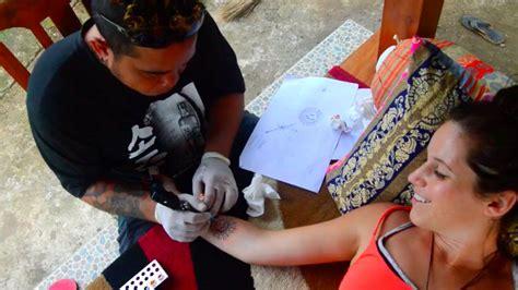 vegan tattoo bali getting a vegan tattoo in bali 40belowfruity youtube