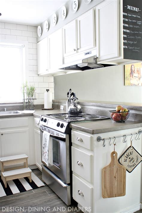 white kitchen makeover with modern farmhouse design great before and stylish table eat small ideas decoholic