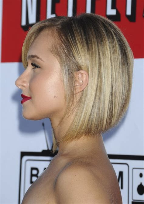back side bob cut hayden panettiere short hair back view short hairstyle 2013