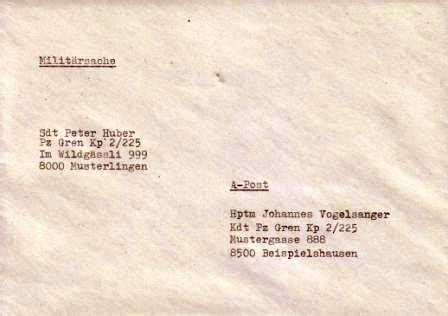 Schweiz Brief A Post portofreie milit 228 rsendungen milit 228 rdienstliche sendungen