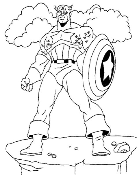 Captain America Coloring Pages Coloring Pages Free Printable Captain America Coloring Pages