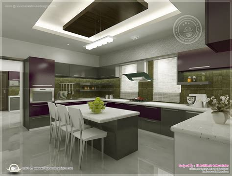 interior of a kitchen kitchen interior views by ss architects cochin kerala