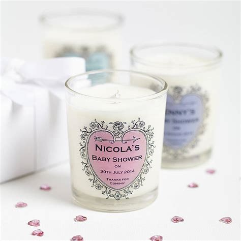 Baby Shower Favoura by Baby Shower Personalised Candle Favours By Hearth