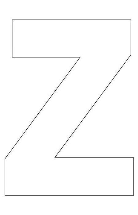 free printable letters a z alphabet letter z template for kids abc crafts